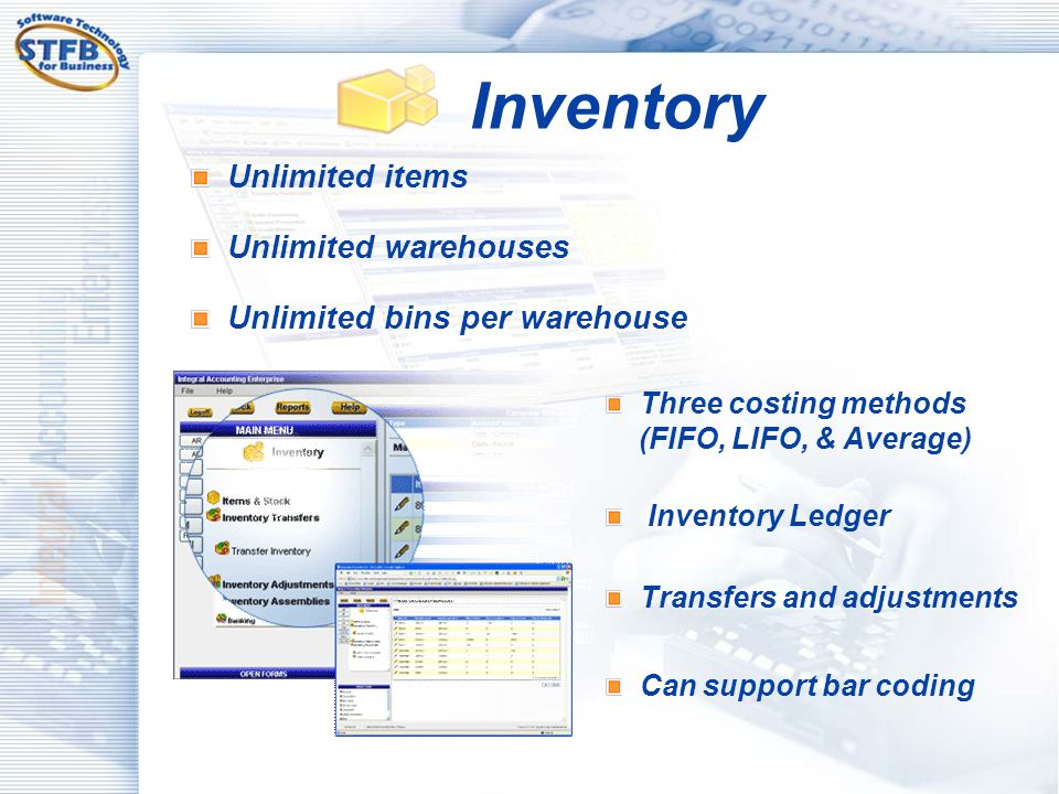 Inventory Unlimited items Unlimited warehouses