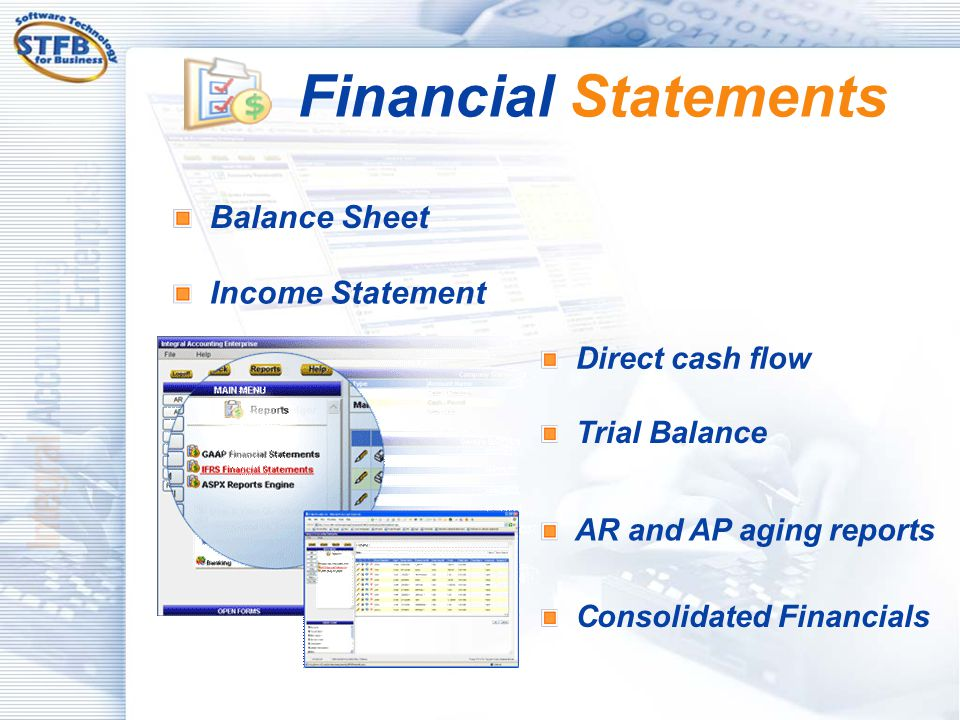 Financial Statements Balance Sheet Income Statement Direct cash flow