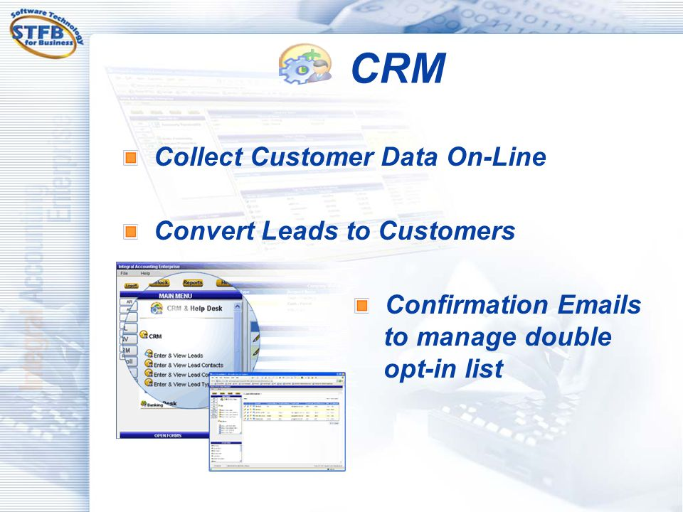 CRM Collect Customer Data On-Line Convert Leads to Customers