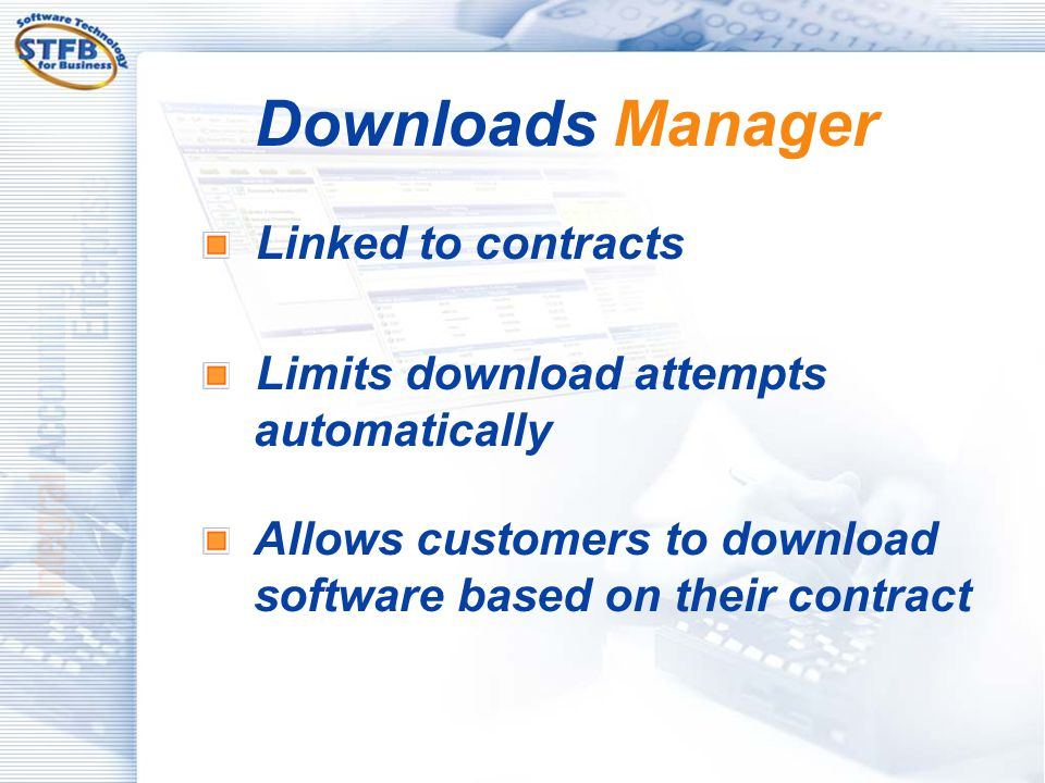 Downloads Manager Linked to contracts
