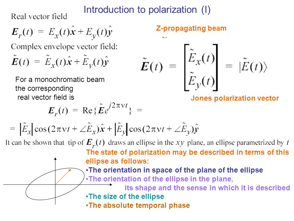 Introduction to polarization (I)