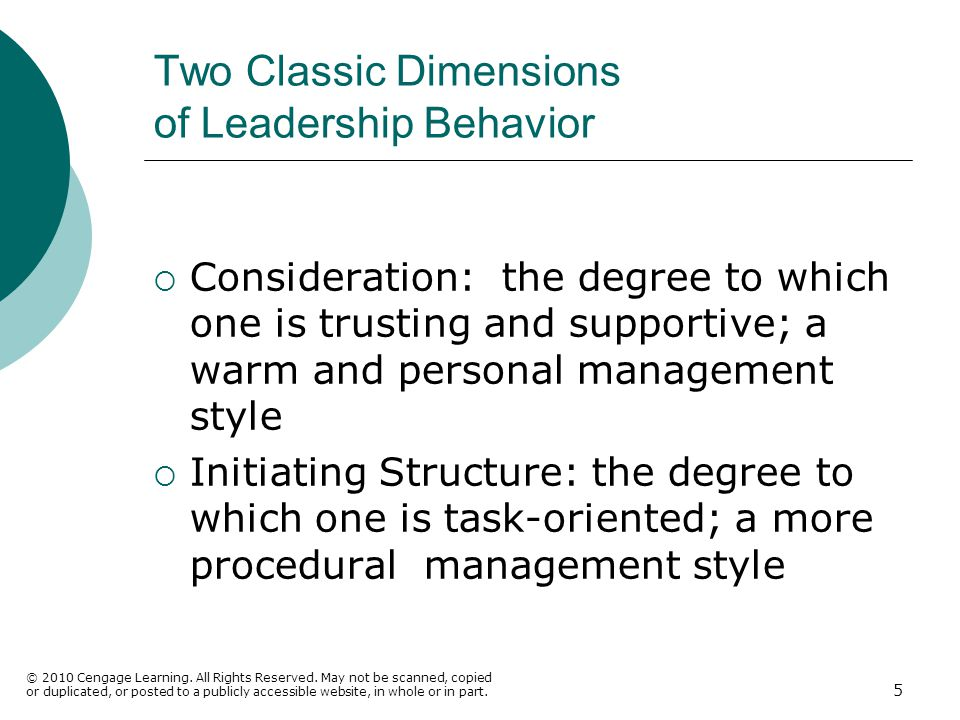 Two Classic Dimensions of Leadership Behavior