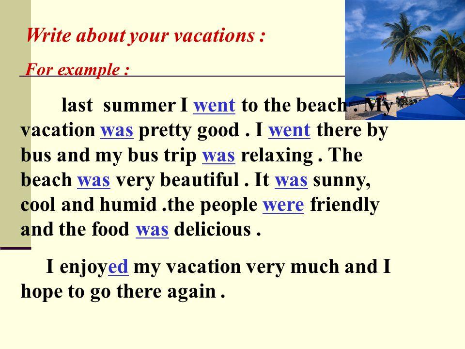last vacation