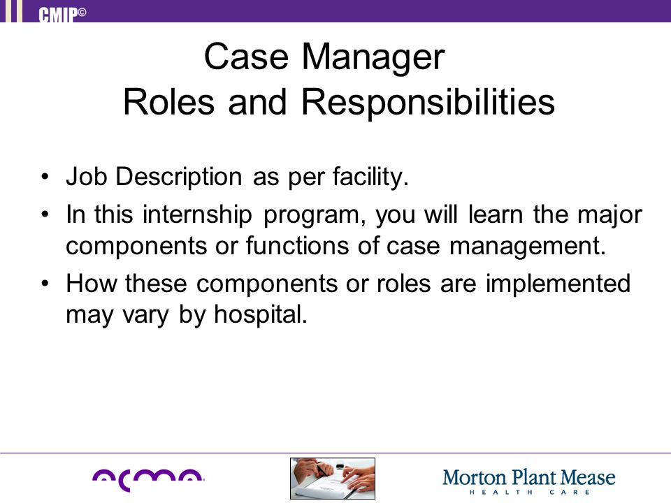 Case Manager Roles And Responsibilities