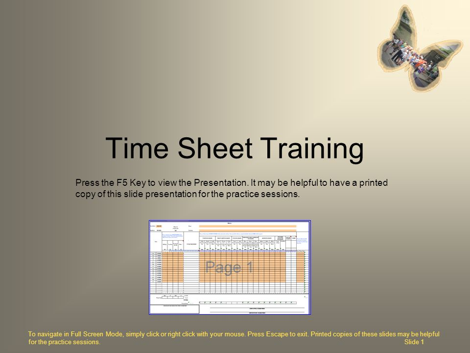Time Sheet Training