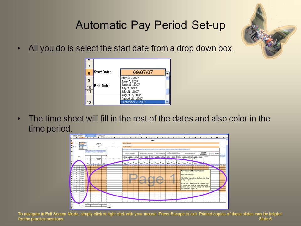 Automatic Pay Period Set-up