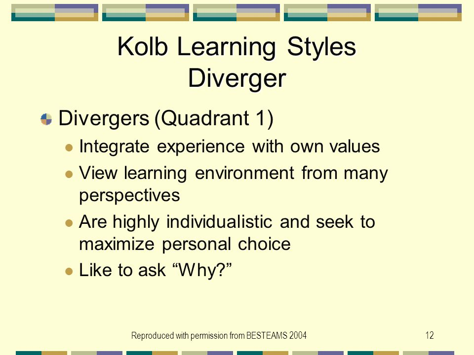 Adult learning styles converger