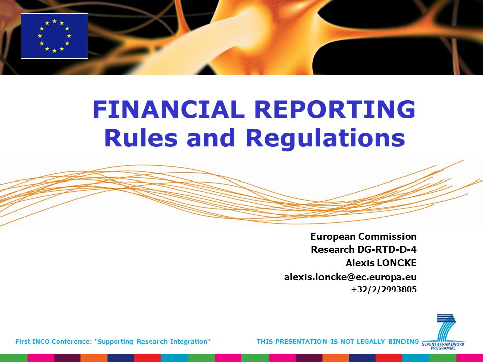 FINANCIAL REPORTING Rules and Regulations