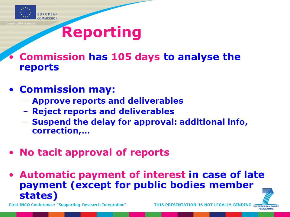 Reporting Commission has 105 days to analyse the reports