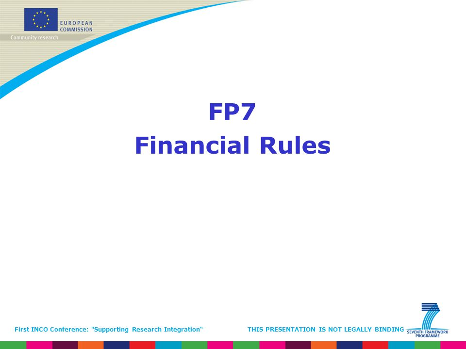 FP7 Financial Rules.