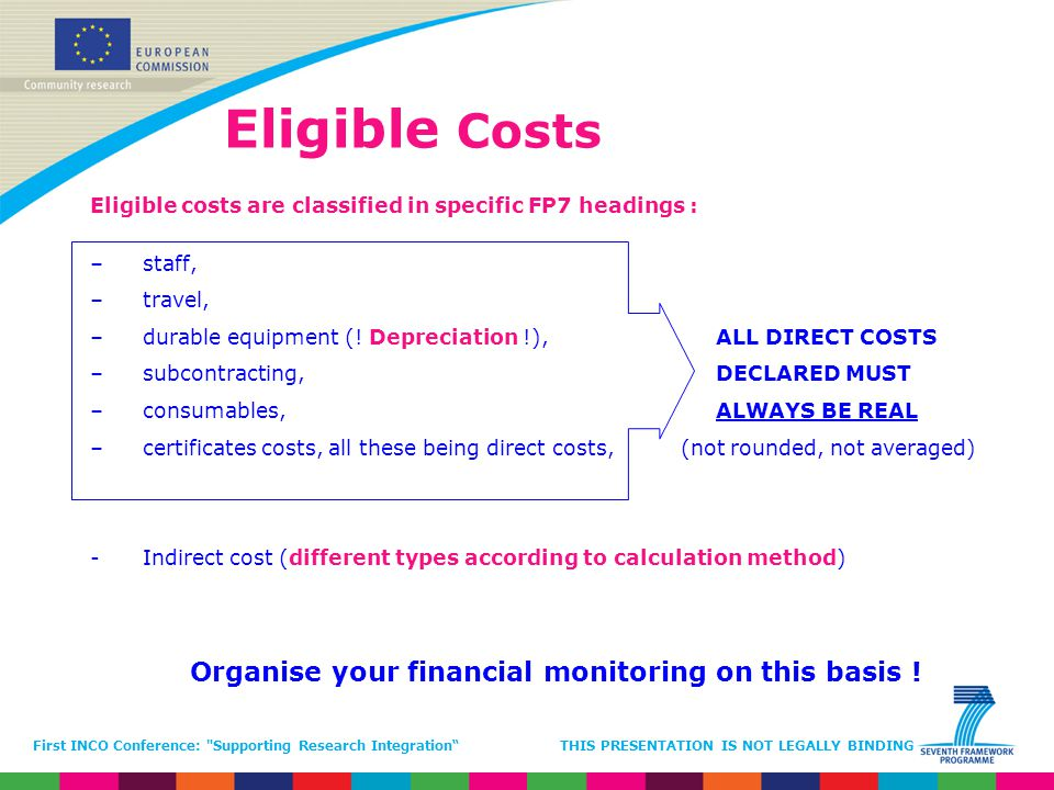 Organise your financial monitoring on this basis !