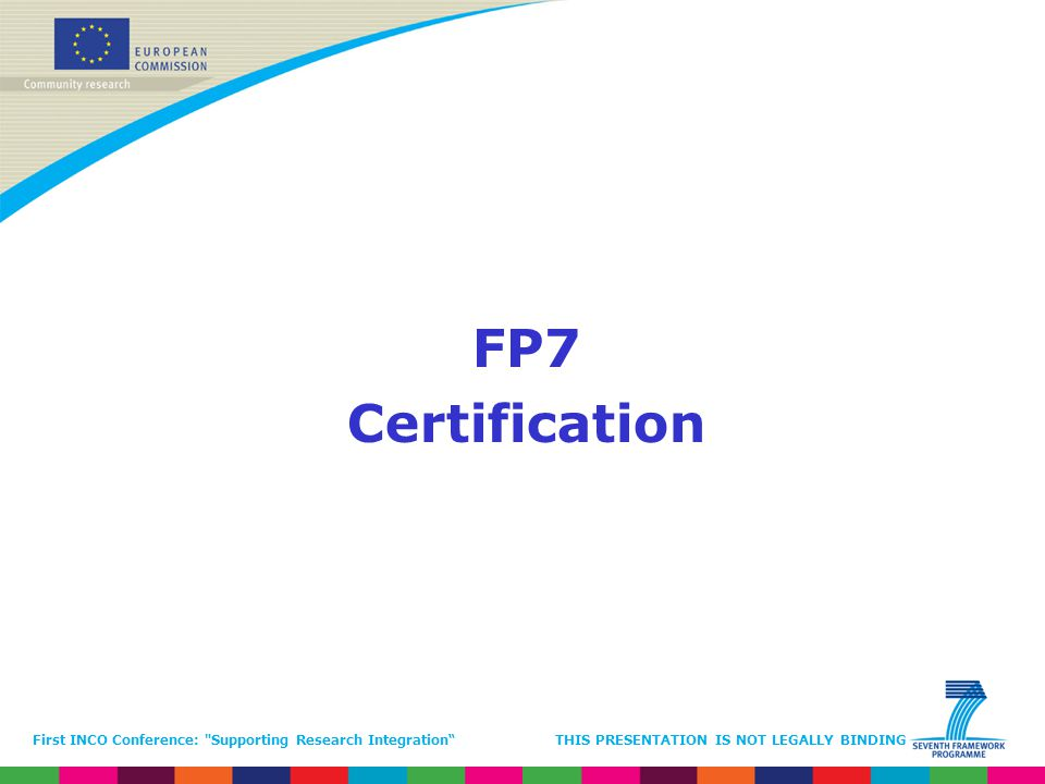 FP7 Certification.