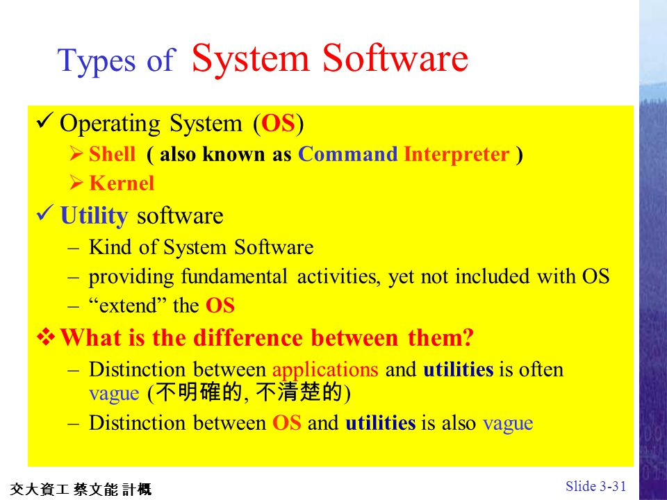 operating system and its types pdf