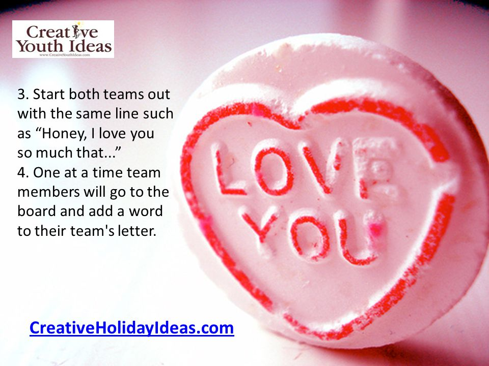 CreativeHolidayIdeas.com 3. Start both teams out