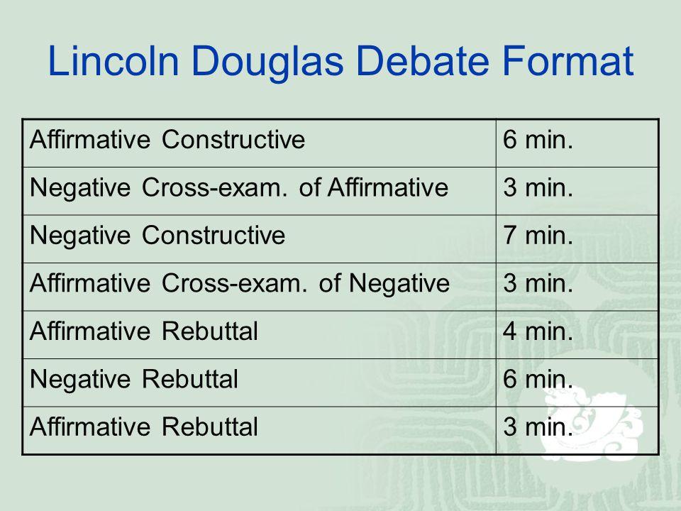 Lincoln – douglas debate ppt video online download.