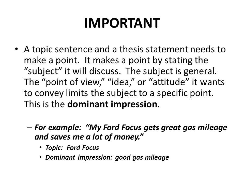 impression sentence