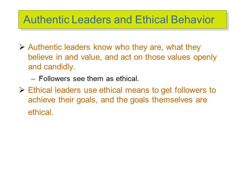 Ethical Leadership Actions