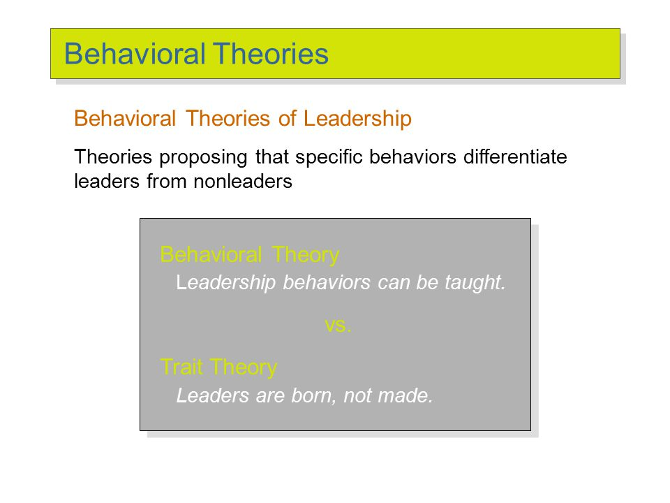 Behavioral Approach Ohio State Studies/University of Michigan