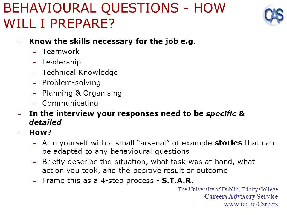behavioural questions how will i prepare