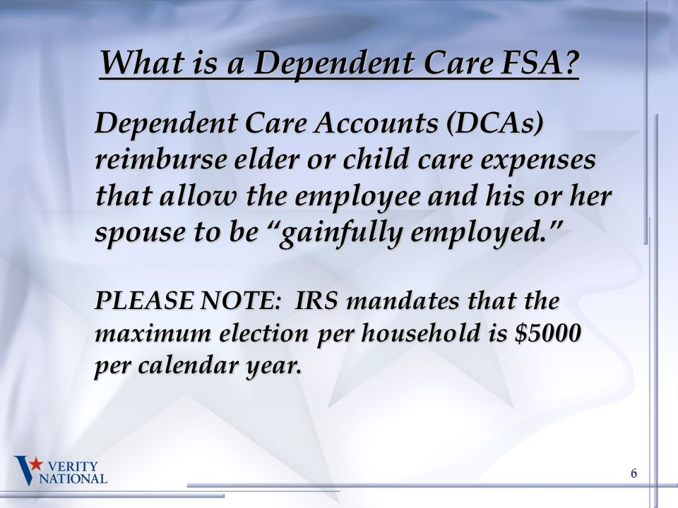 What is a Dependent Care FSA