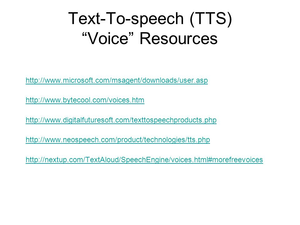 Overview of Text to Speech - ppt download