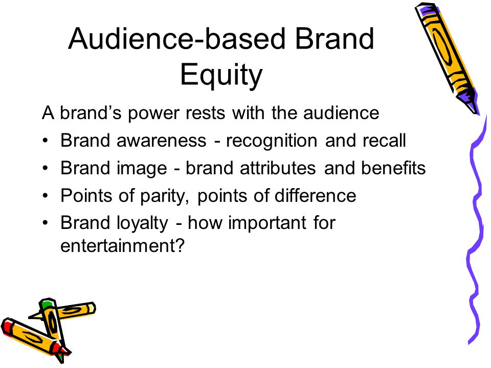 Audience-based Brand Equity
