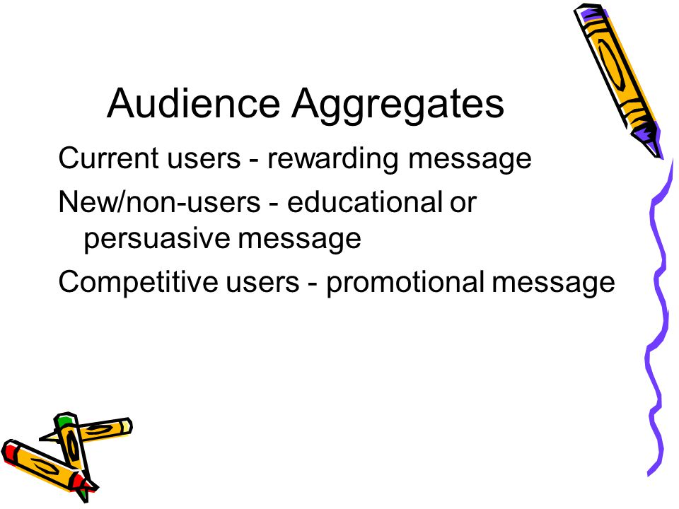 Audience Aggregates Current users - rewarding message