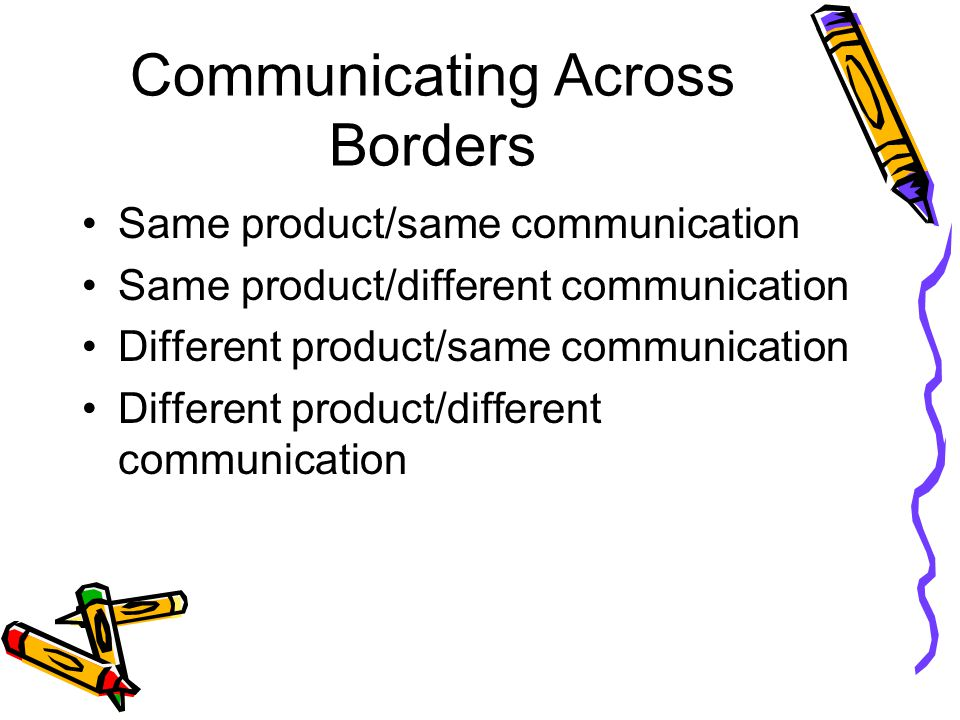 Communicating Across Borders