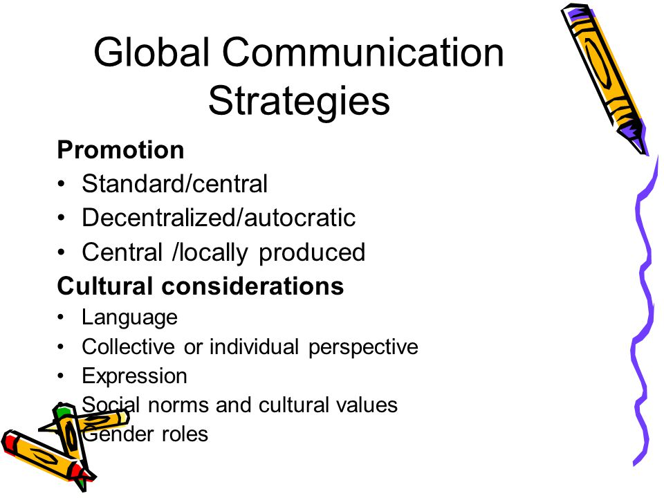 Global Communication Strategies