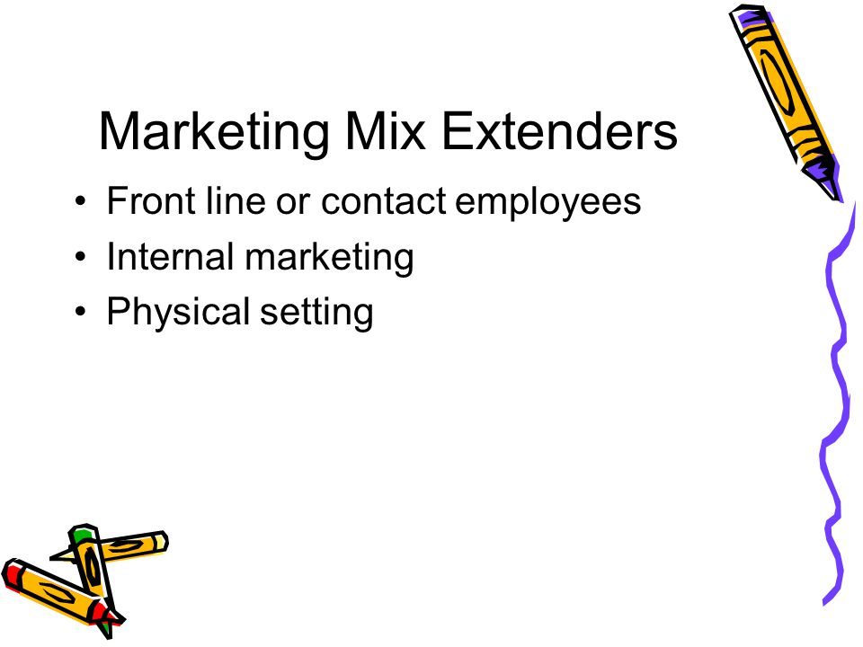 Marketing Mix Extenders