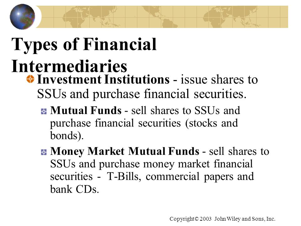 Types of Financial Intermediaries