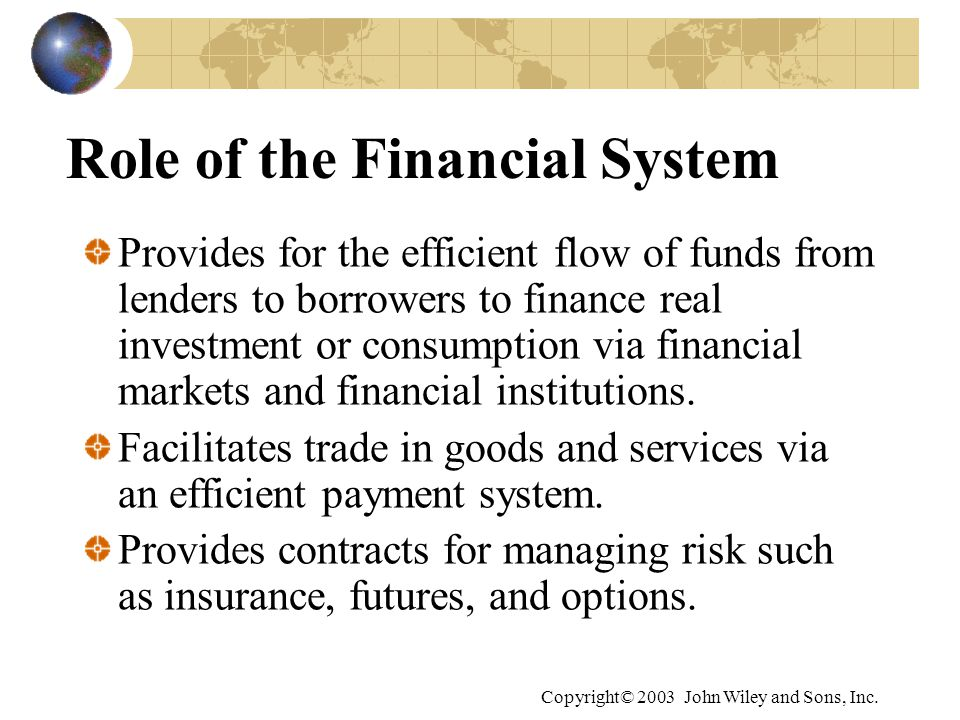 Role of the Financial System