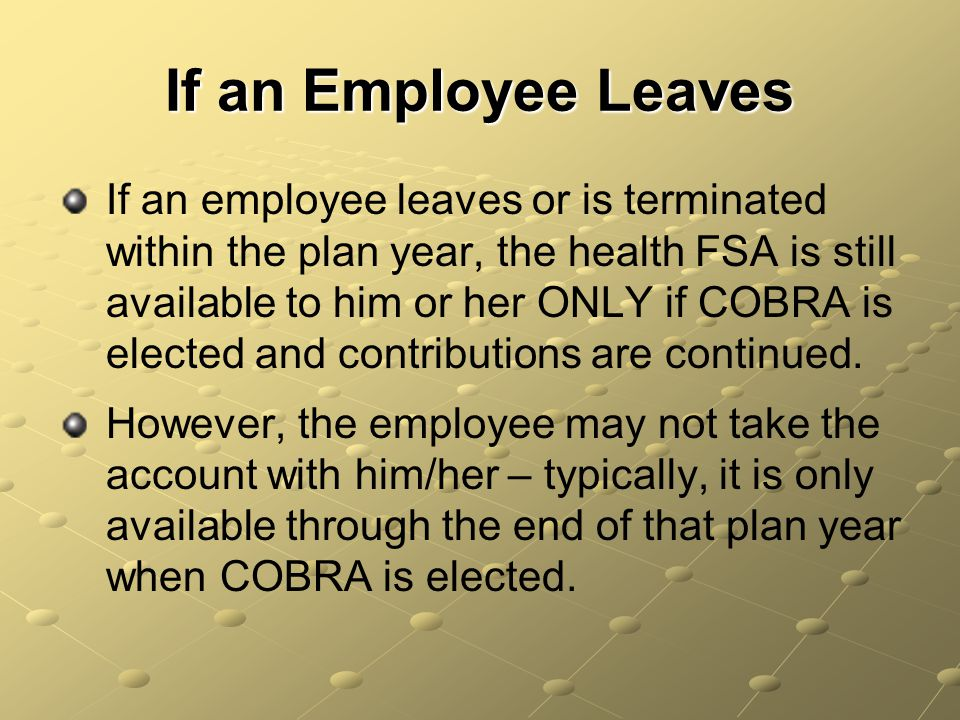 If an Employee Leaves
