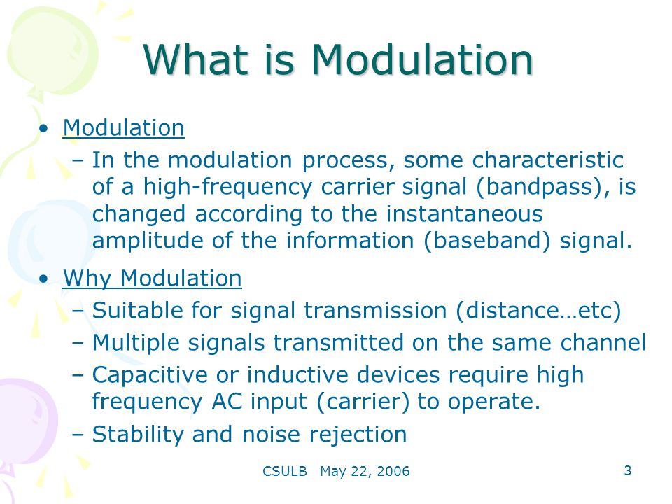 What is Modulation Modulation