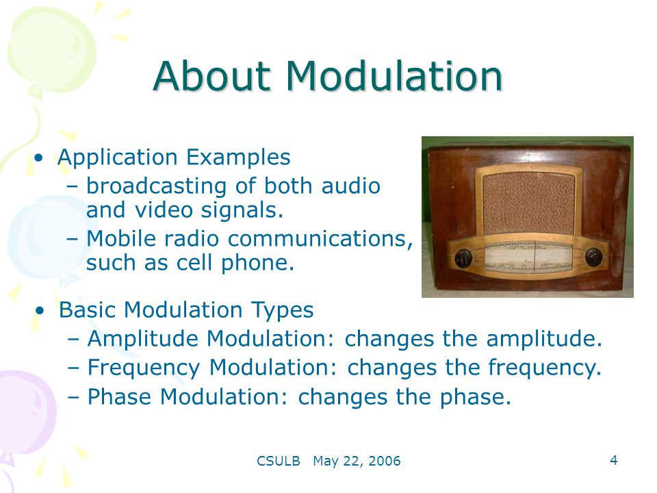About Modulation Application Examples