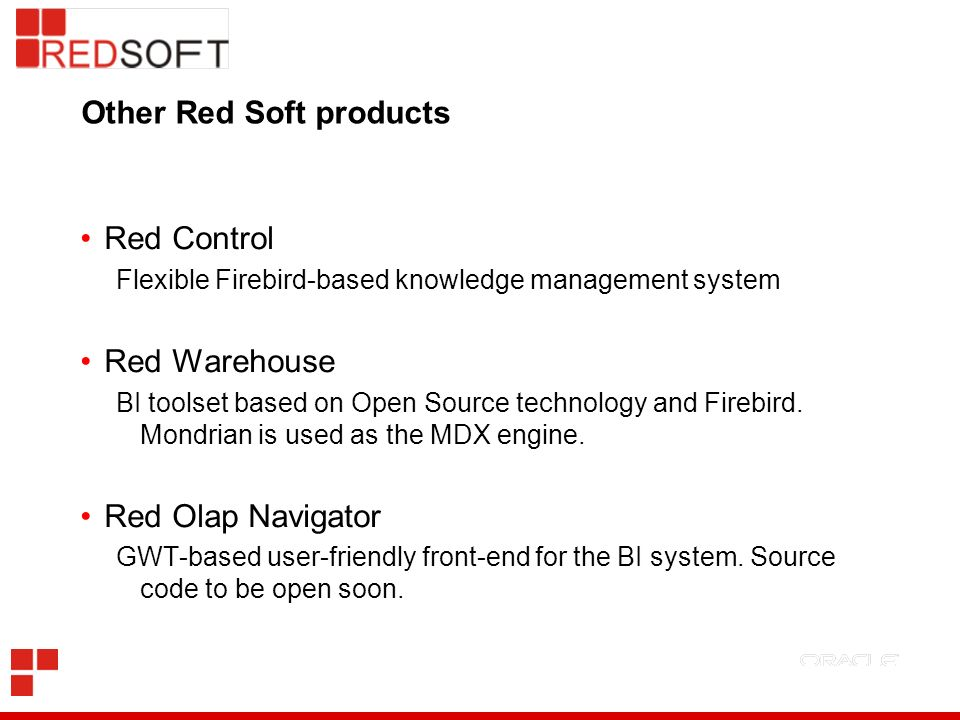Other Red Soft products