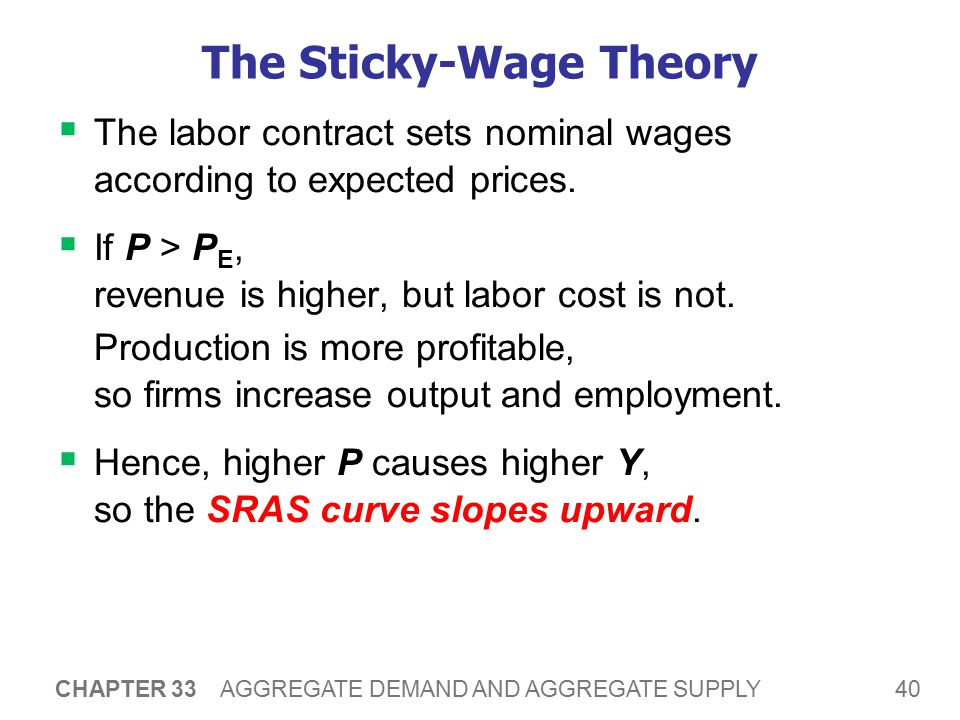 The Sticky-Wage Theory