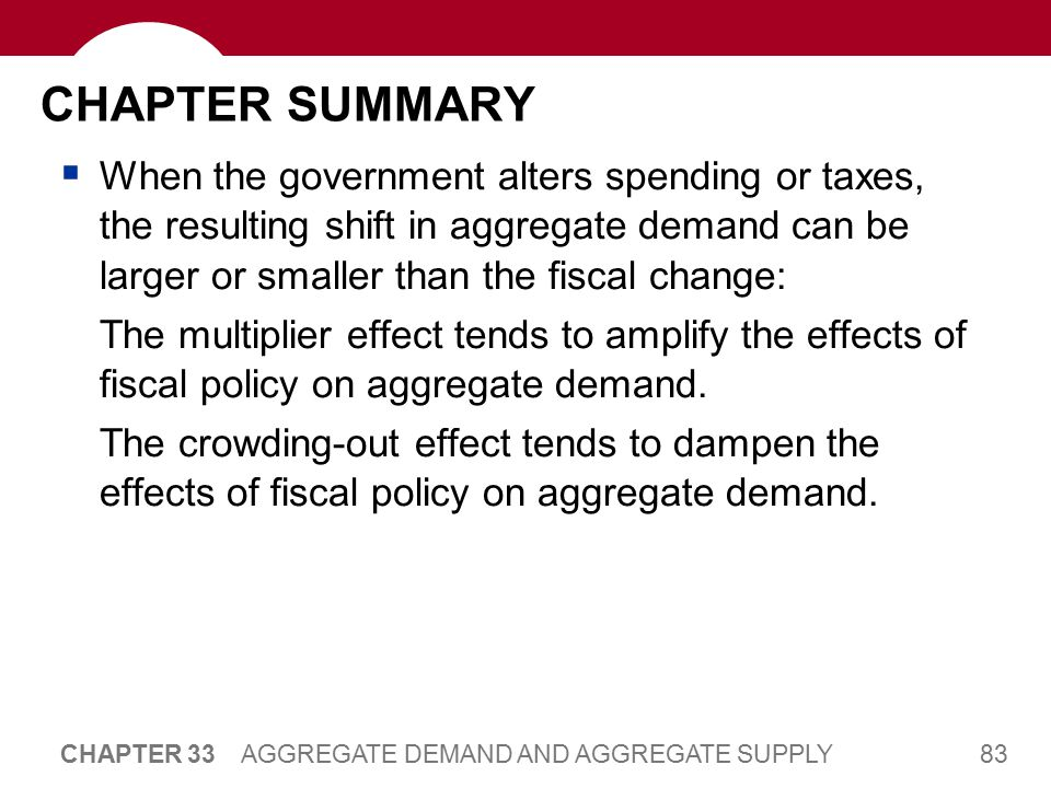 CHAPTER SUMMARY Economists disagree about how actively policymakers should try to stabilize the economy.