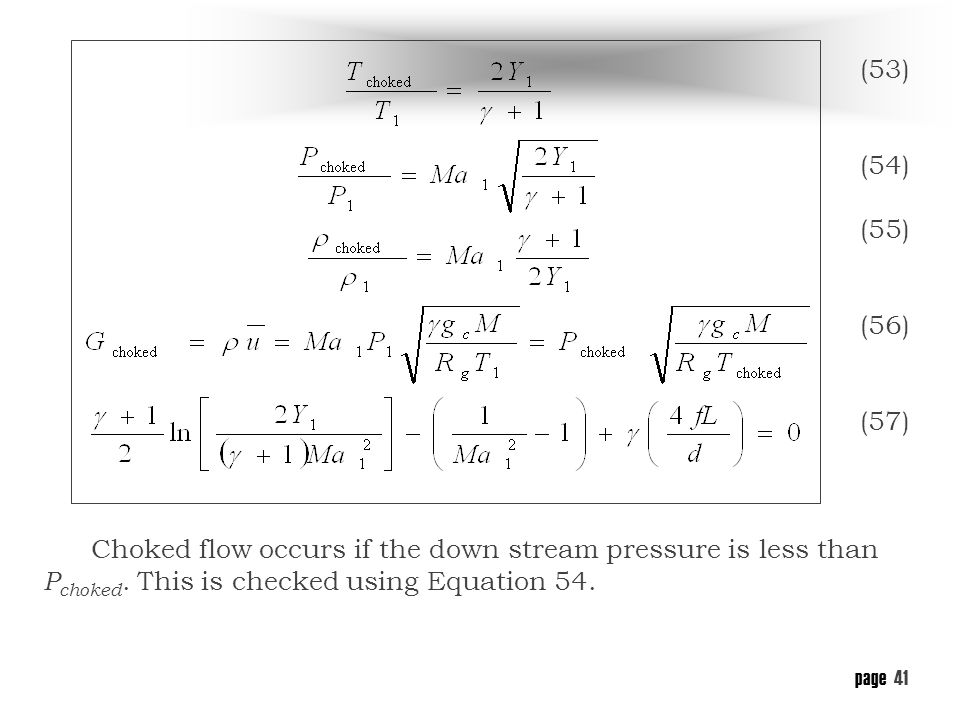 Figure 12 Adiabatic choked flow of gas through a pipe  sc 1 st  SlidePlayer & Flow of Liquids Through Pipes - ppt download