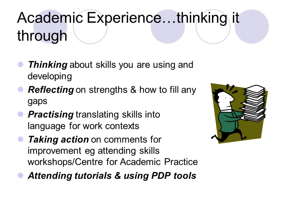 Academic Experience…thinking it through