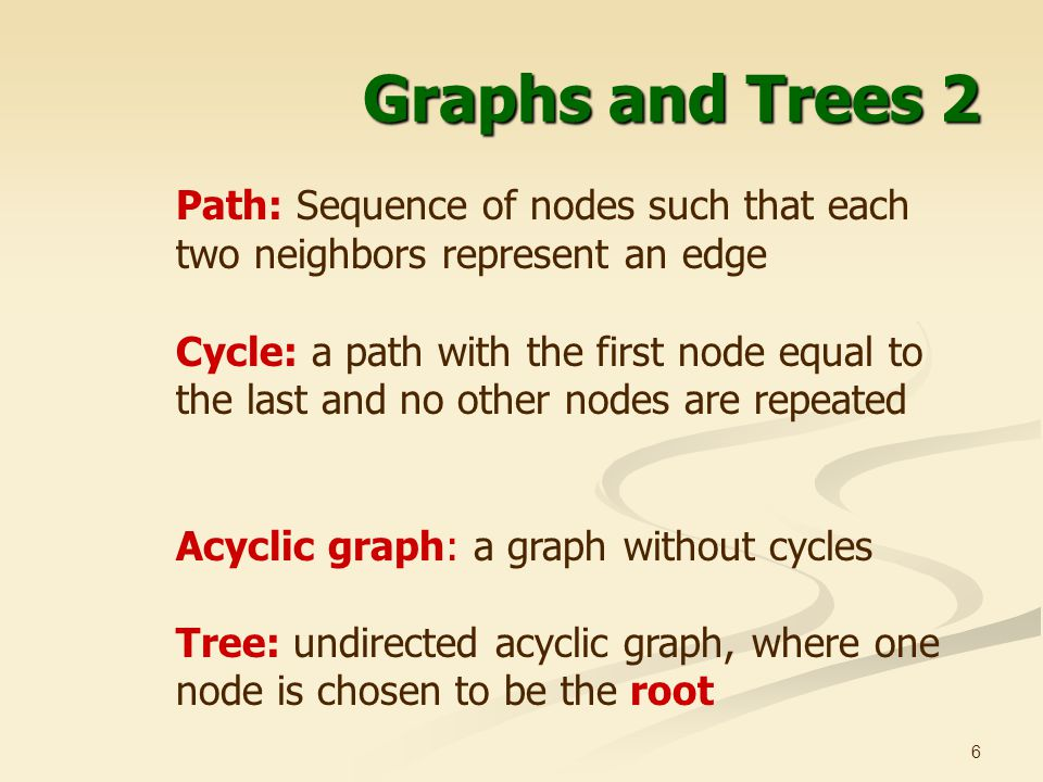 Graphs and Trees 2 Path: Sequence of nodes such that each two neighbors represent an edge.