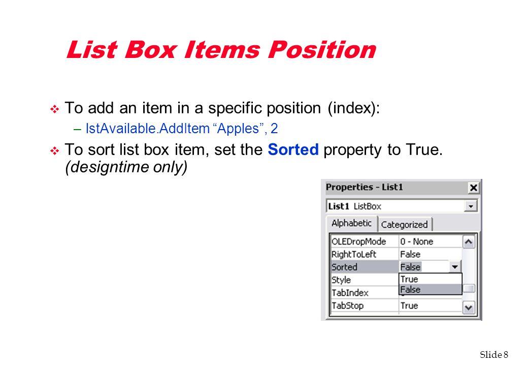 VB Default Controls List Box, Combo Box - ppt download