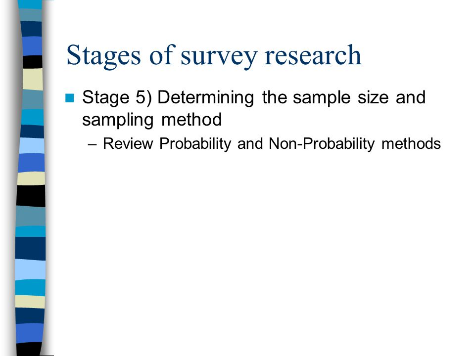 Stages of survey research