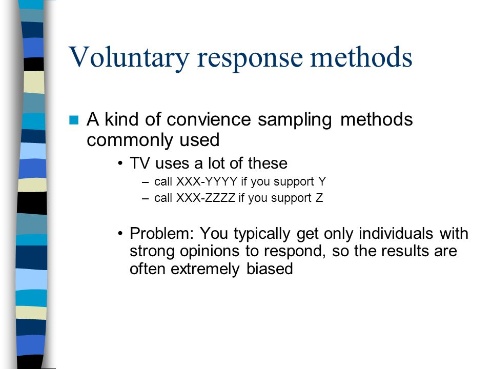 Voluntary response methods