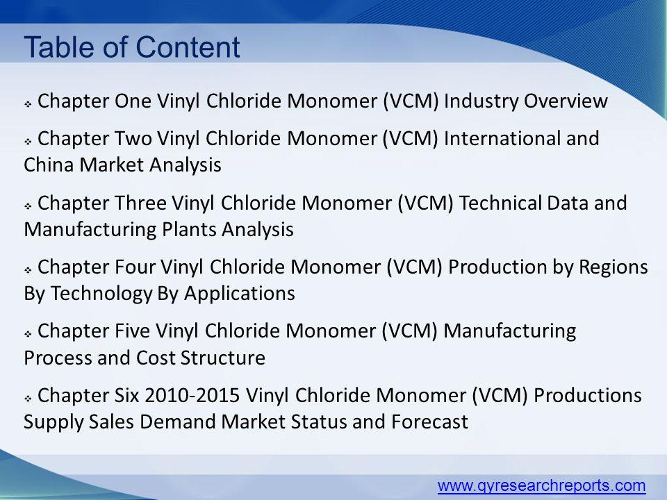 Global Vinyl Chloride Monomer (VCM) Industry Research Report ppt