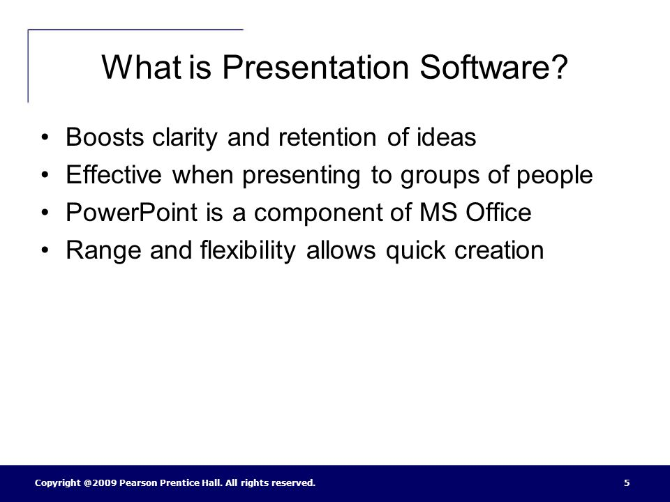What is Presentation Software