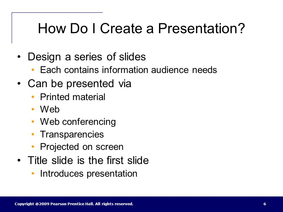 How Do I Create a Presentation