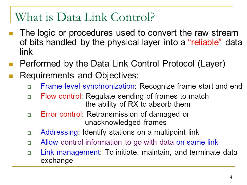 Chapter 7: Data Link Control P...