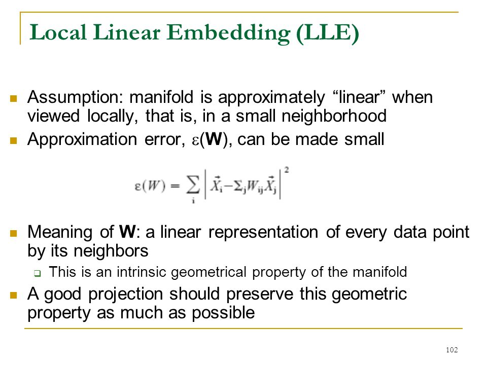 Local Linear Embedding (LLE)