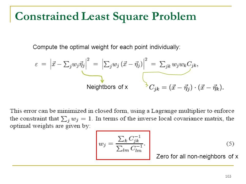 Constrained Least Square Problem